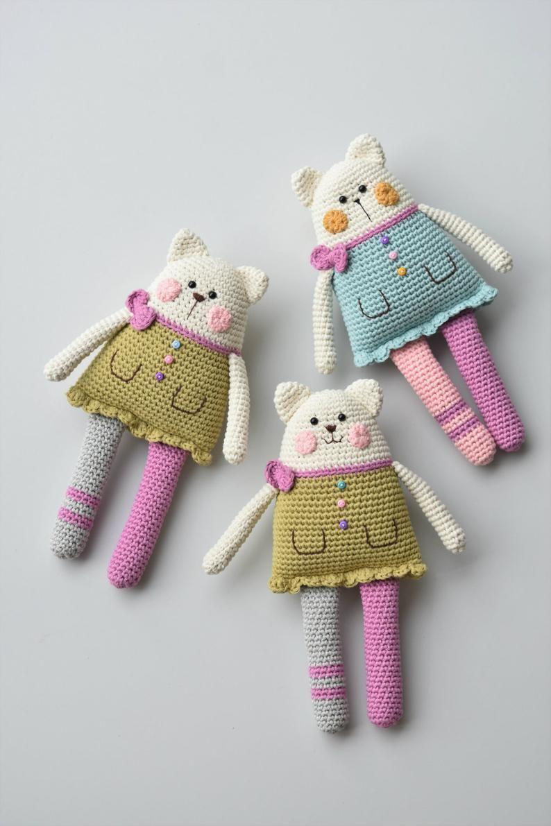Sweet bunny amigurumi in dress | Wzory amigurumi, Darmowe wzory ... | 1191x794