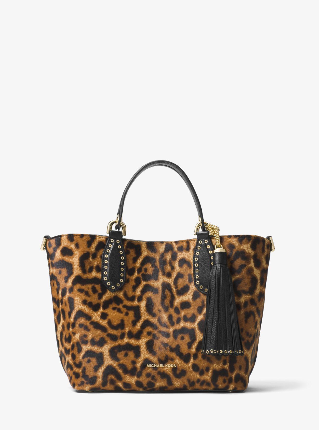 Brooklyn Medium Leopard Calf Hair Tote Satchels Leopards Calves Totes