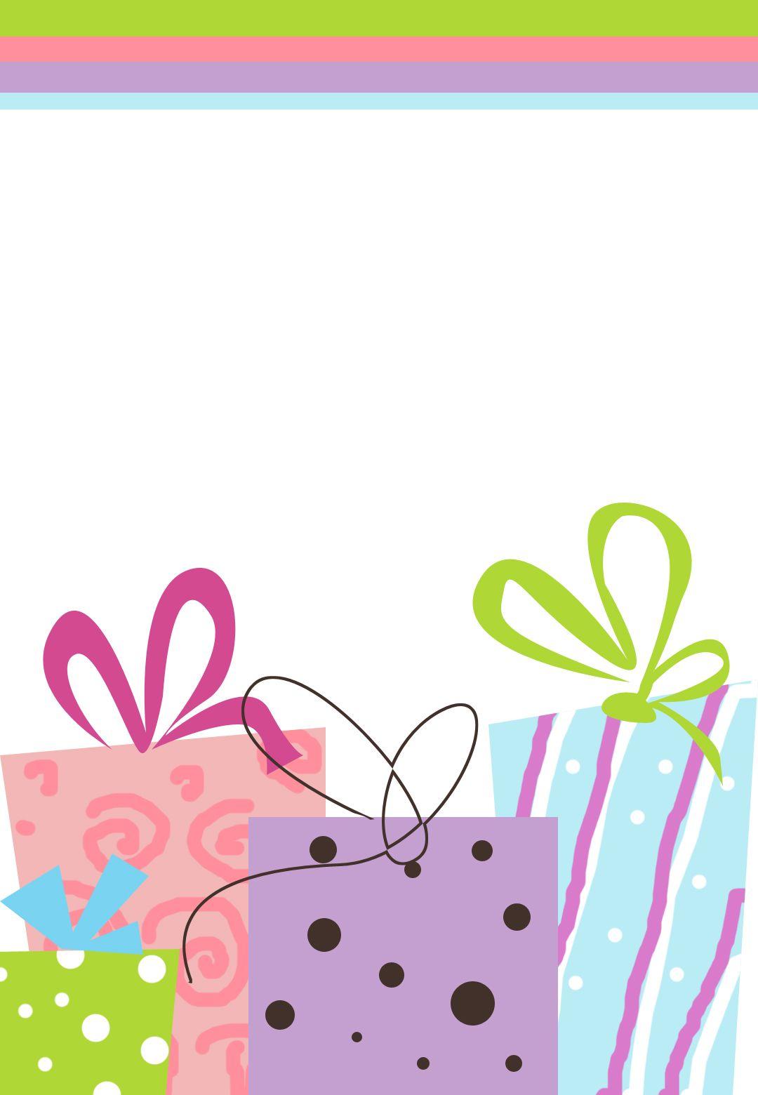 Invitaciones De Muchos Regalos Para Imprimir | birth mom | Pinterest ...
