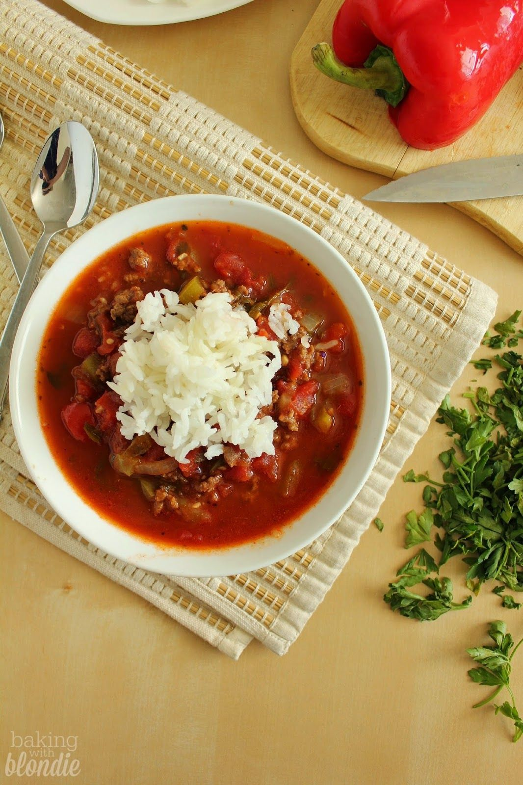 Baking with Blondie : Stuffed Pepper Soup