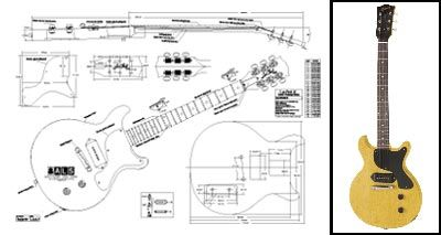 834e8e4d027b874e9260391e79d8e6a6 gibson les paul� jr double cutaway guitar plan buy any 2 get 1 les paul junior wiring diagram at bakdesigns.co