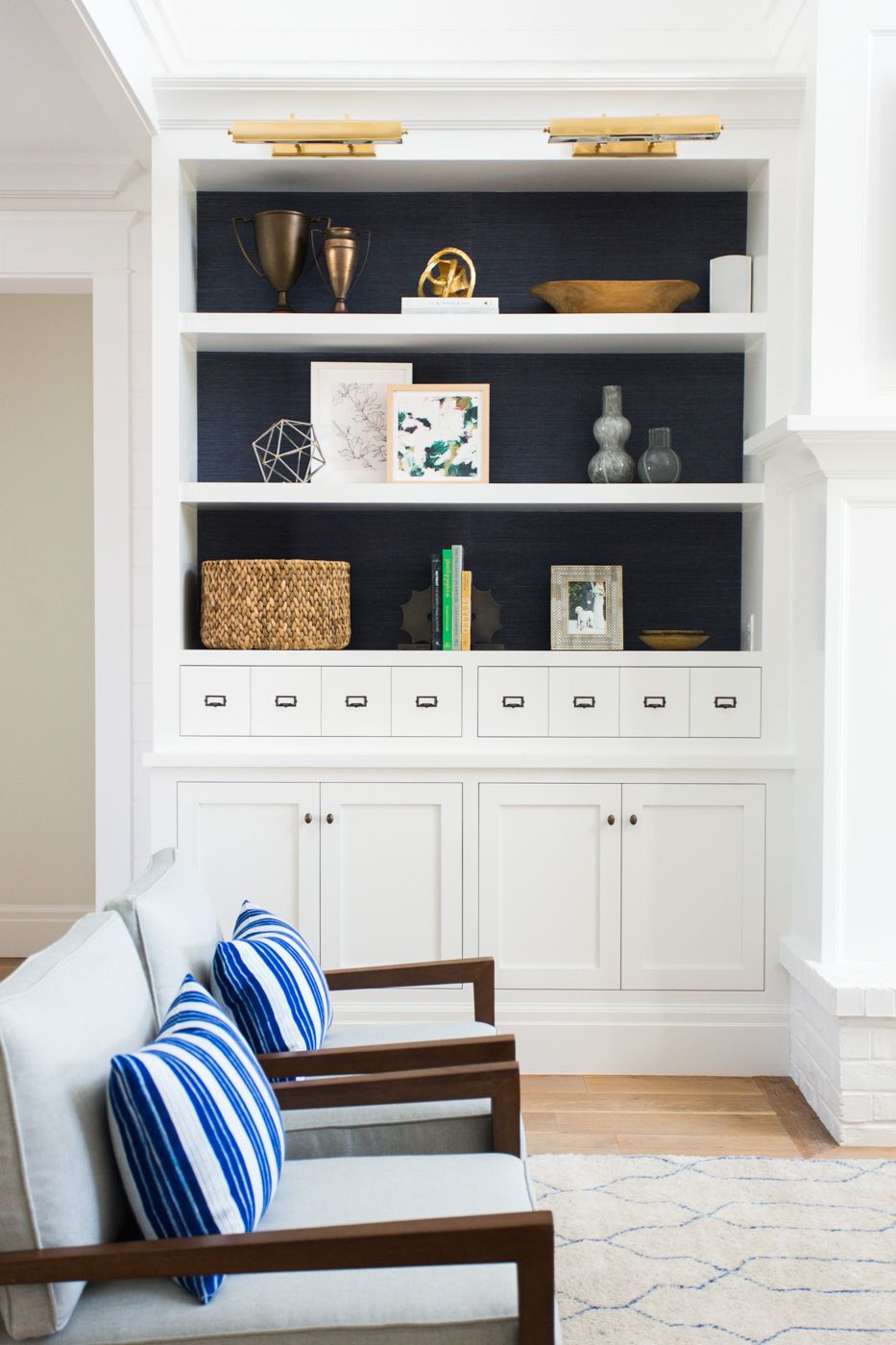 Windsong Project: Great Room, Kitchen, Mudroom | Studio mcgee, Navy ...