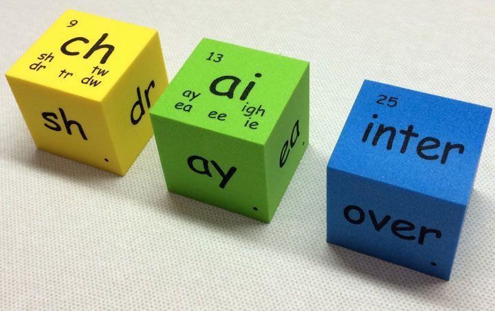 Jumble Spelling (Phonics & Word Family Cubes) 麻辣拼盛 Spelling(英文字母字群骰子) # spelling #phonics #English #cubes #blocks #dice | Phonics words, Word  families, Phonics