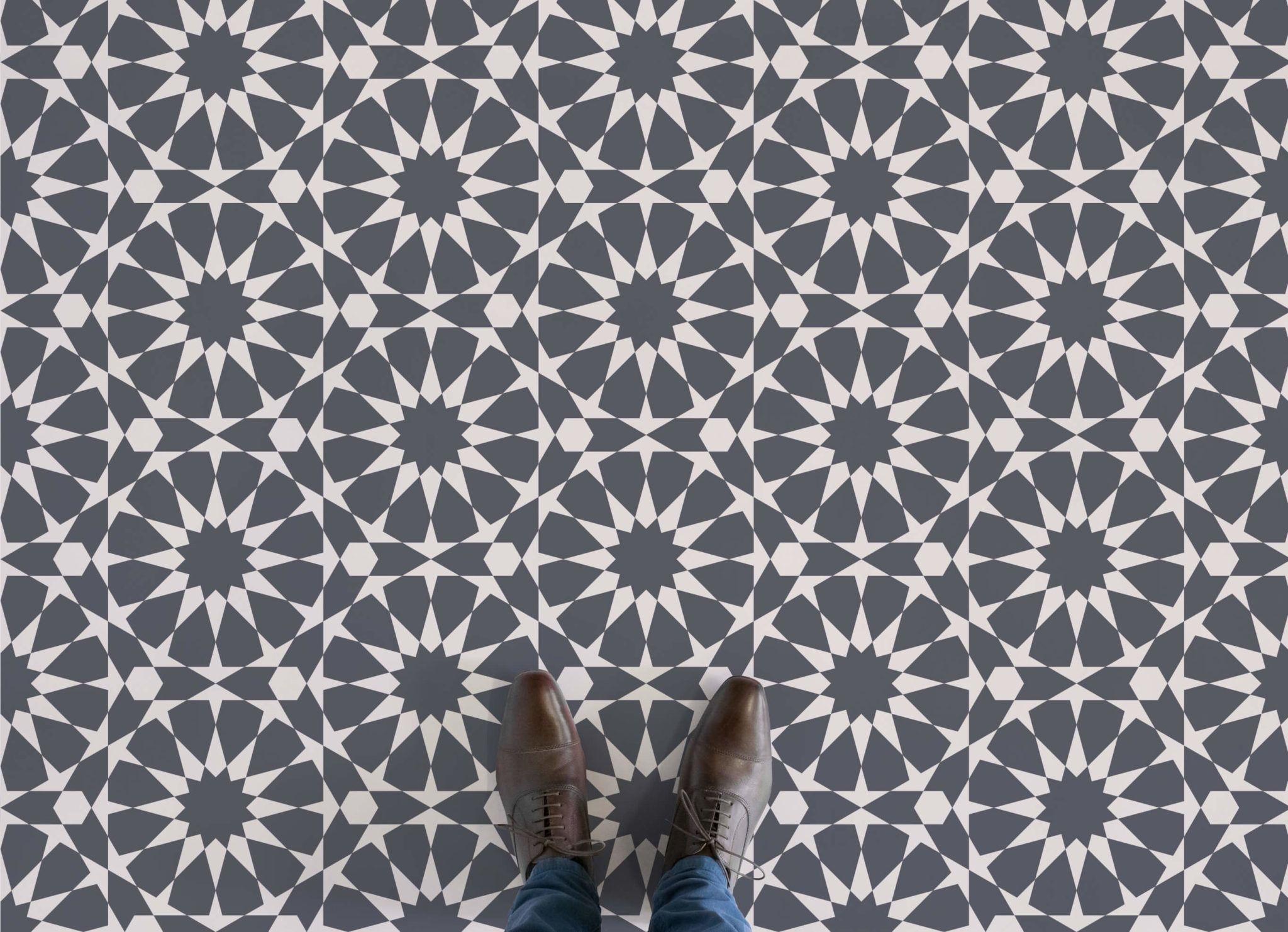 circle pattern vinyl flooring floor design and kitchens