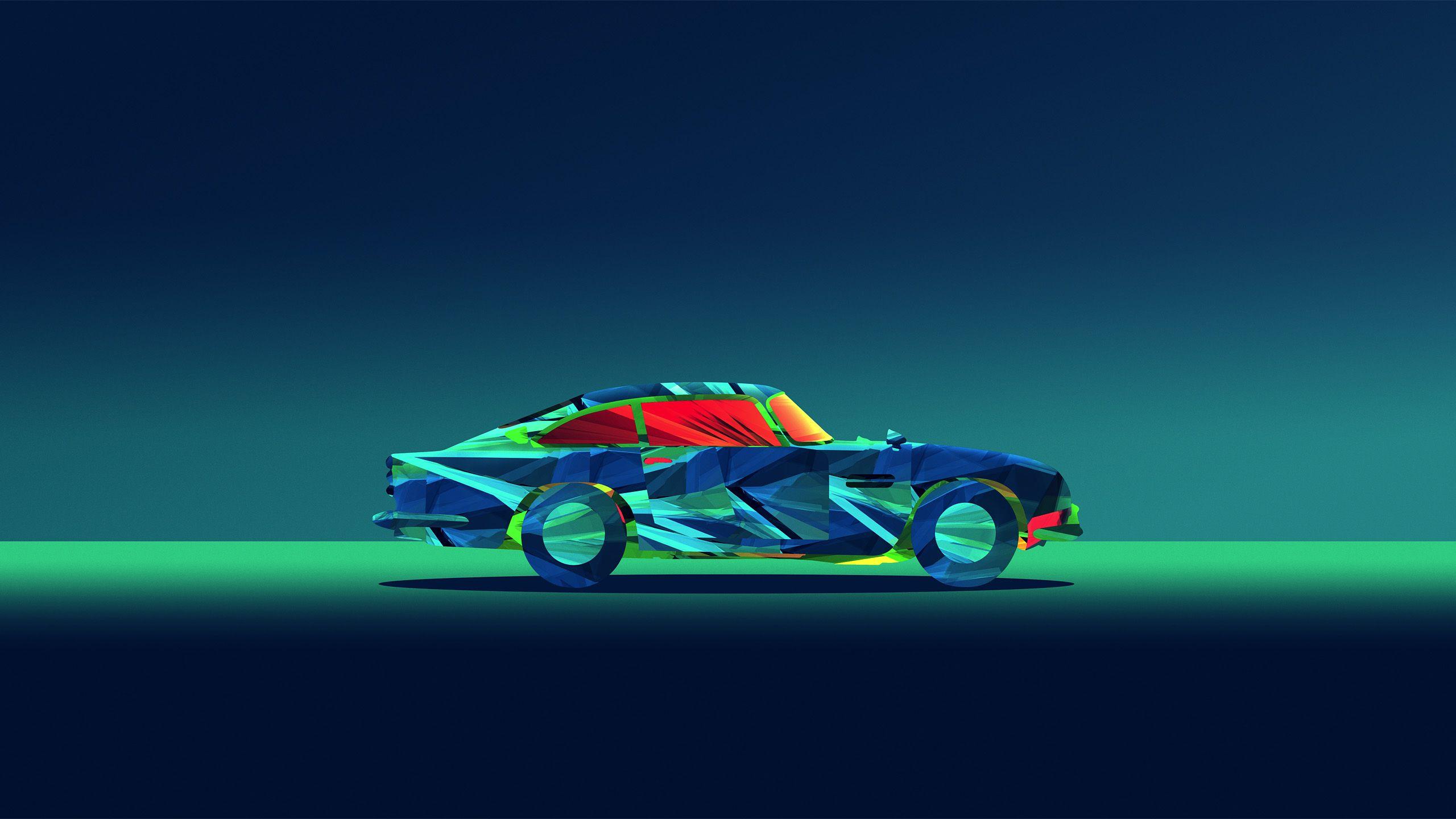 Abstract Car Facets Justin Maller Minimal Wallpaper Justin Maller Wallpapers Wallpaper