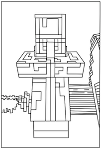 Printable Minecraft Villager Coloring Pages