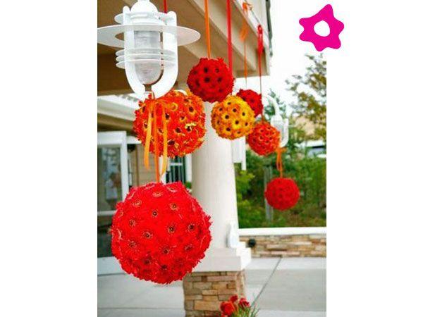 Combinaci n rojo con naranja decoraci n para boda - Combinacion de colores para salones ...