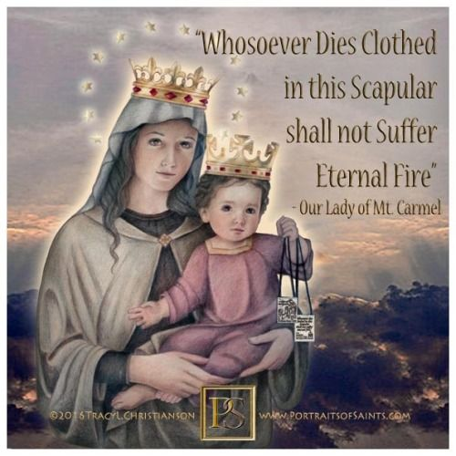 Our Lady of Mount Carmel is the title given to the Blessed Virgin Mary in her role as patroness of the Carmelite Order.