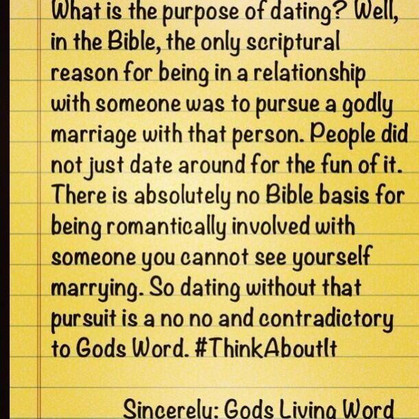 What Is The Purpose Of Dating Relationships