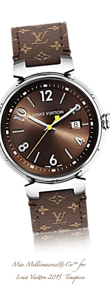 louis vuitton 2015 timepiece accessories show wish list schmuck uhren armbanduhr. Black Bedroom Furniture Sets. Home Design Ideas