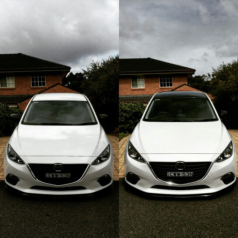 Brand New Mazda 3 Now Hasn T This Just Set It Off Gloss Black Roof
