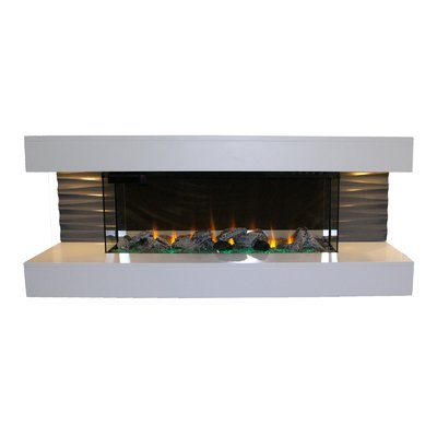 Orren Ellis Lorenza Wall Mounted Electric Fireplace Wall Mount