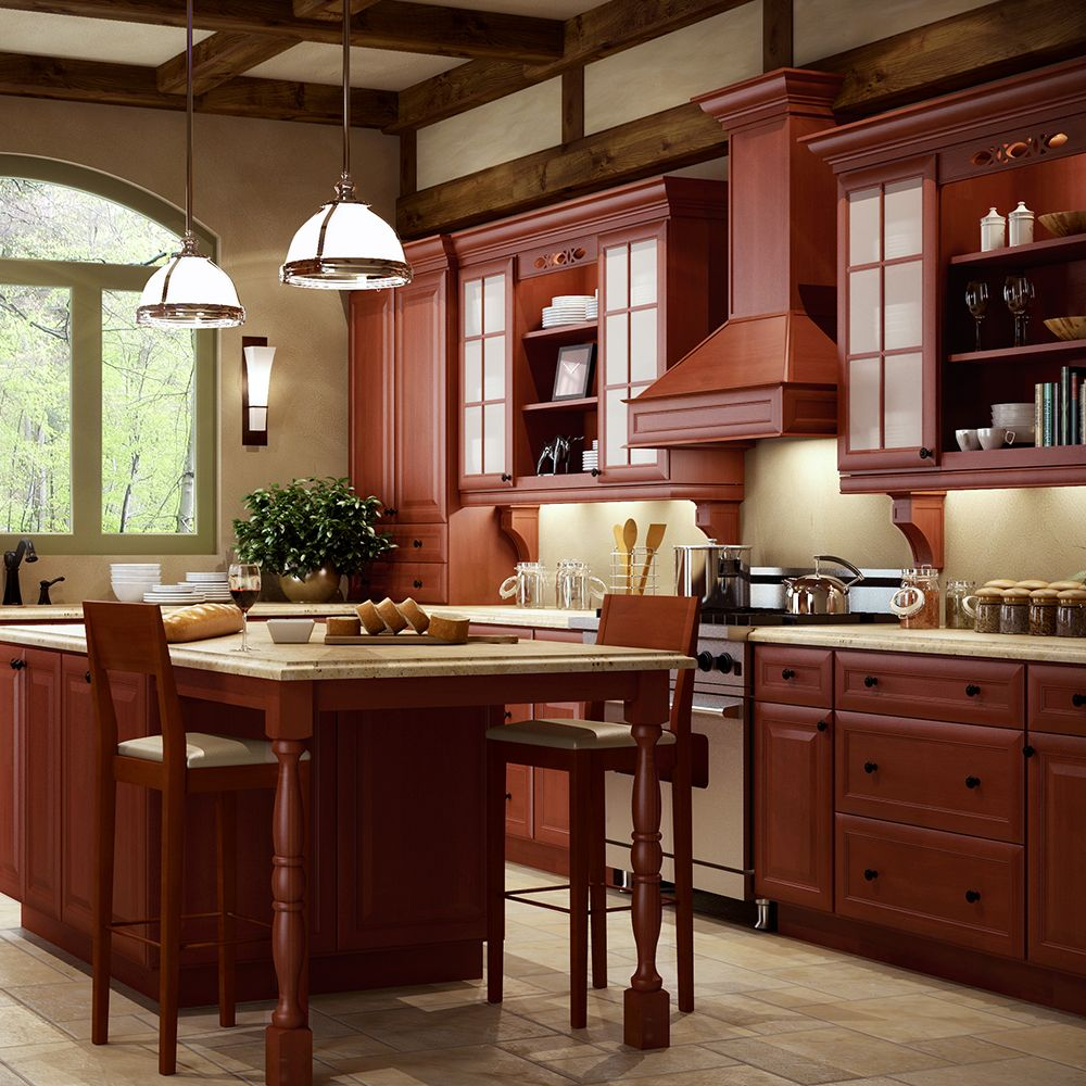 Our #RTA Cassia Brown Kitchen #Cabinets really shines in a ...