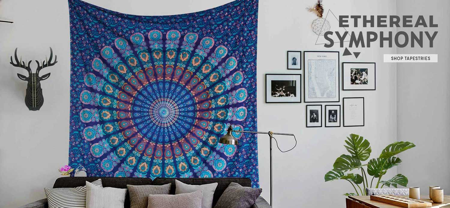 Tapestry online shopping wall surface hanging type an integral component of area decoration get charming mandala tapestry wall hangings for sale online