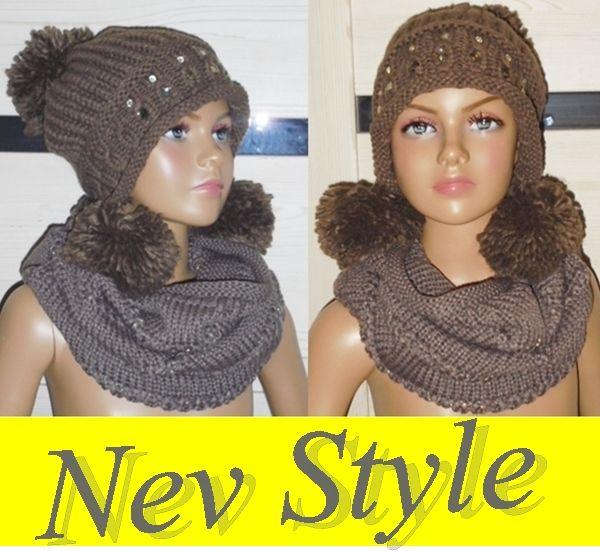 Uniwersalny Komplet Czapka Komin Szal Prezent 6627175559 Oficjalne Archiwum Allegro Crochet Hats Style Fashion