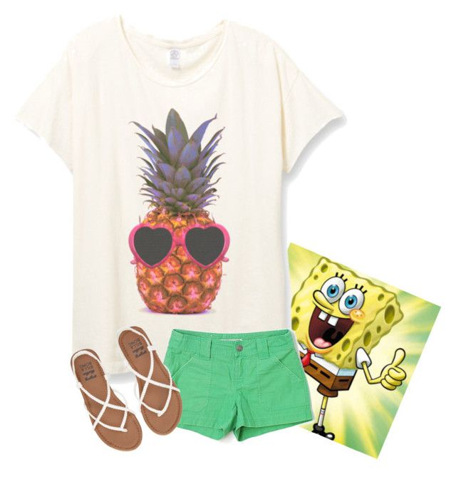 """""""Who lives in a pineapple under the sea?"""" by southern-prepx ❤ liked on Polyvore featuring Old Navy and Billabong"""