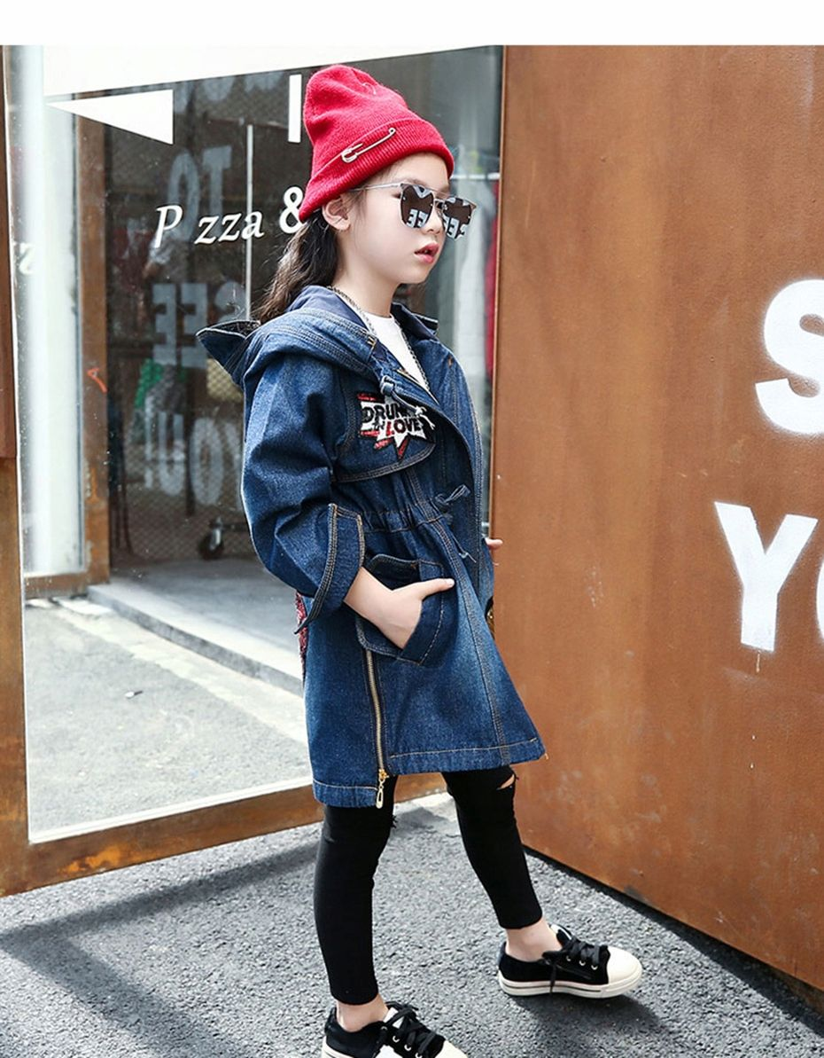 Denim Girls Jeansowa Kurtka Wiosenna Kaptur116 158 7781979446 Allegro Pl Fashion Hats Bucket Hat