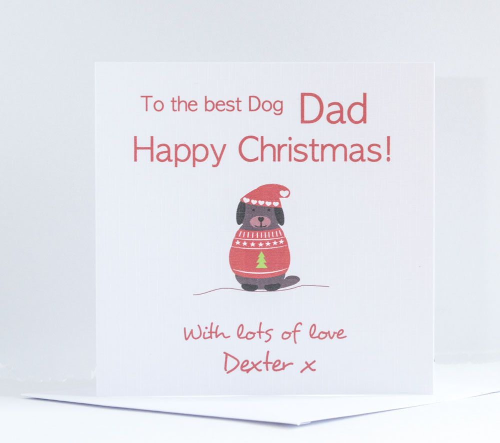 Personalised Christmas Card From The Dog Dogs Pet Puppy