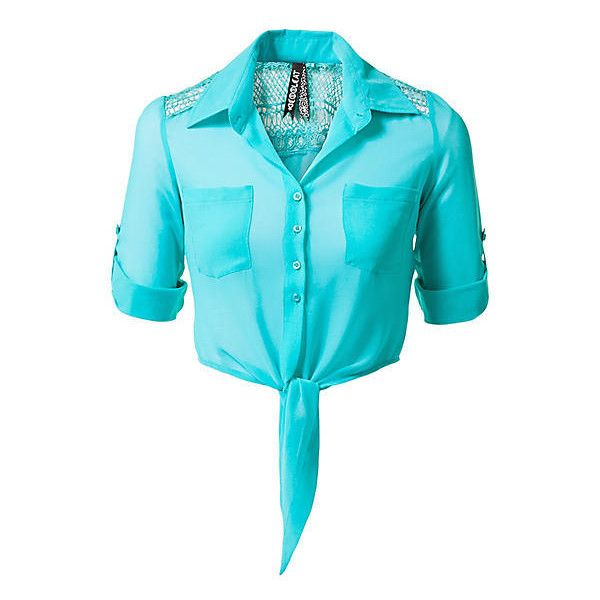 CoolCat korte blouse ❤ liked on Polyvore featuring tops, blouses, shirts, crop tops, blusas, blue top, crop shirts, shirts & tops, shirts & blouses and blue shirt