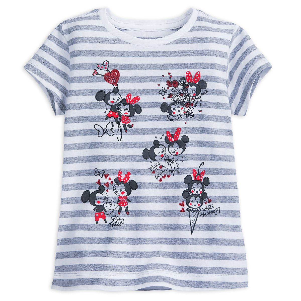 cb9ee36b9 Mickey and Minnie Mouse Striped T-Shirt for Girls | Disney fashion ...