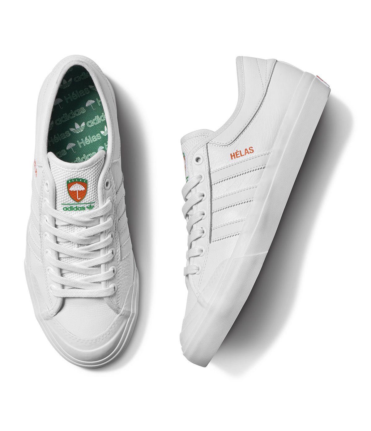 adidas ORIGINALS X HÉLAS POLO SHIRT MEN/'S WHITE SKATEBOARDING SKATING TENNIS NEW