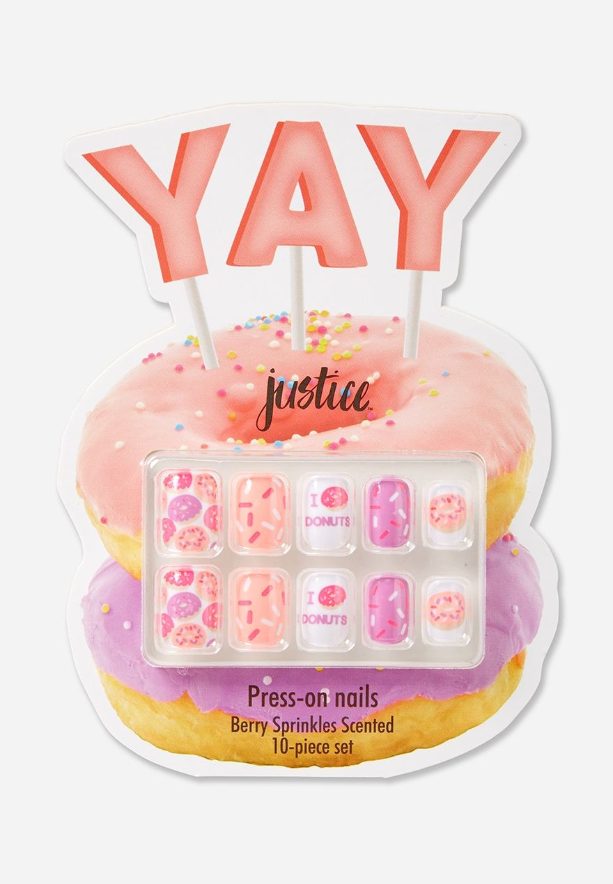donut press-on nail set | Gorgeous Girl | Pinterest | Nail set, Body ...