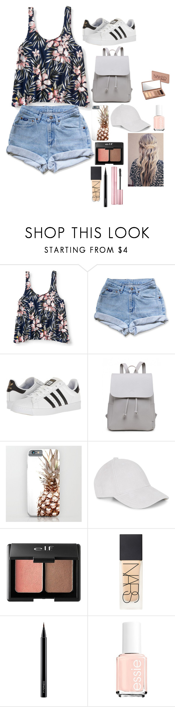 """""""Untitled #247"""" by katelynrose123 ❤ liked on Polyvore featuring Aéropostale, Levi's, adidas, Le Amonie, Charlotte Russe, NARS Cosmetics, MAC Cosmetics and Urban Decay"""