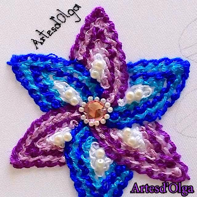 Photo of Scroll Stitch Flower