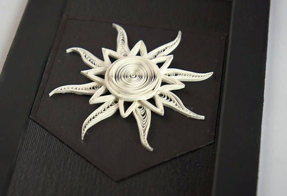 House Karstark White & Black Winter Sun Banner Sigil, Game