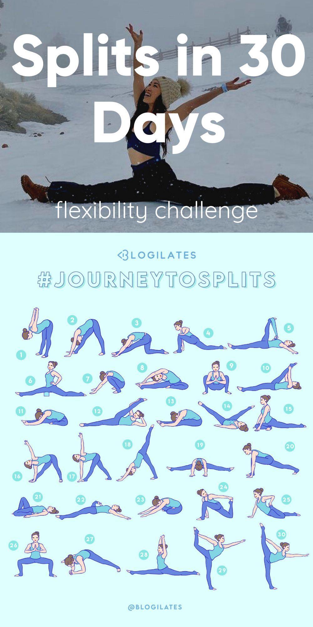 How to do the splits in 30 days with beginner spli