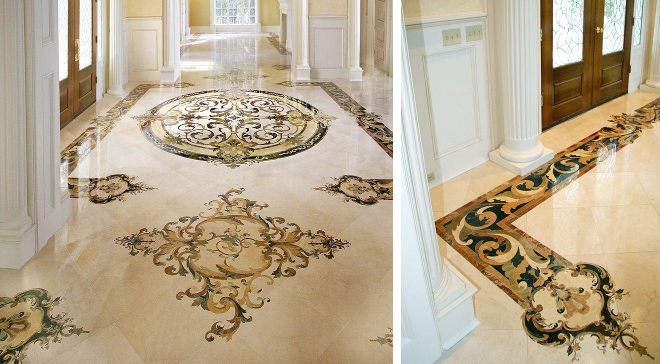 Parisian Rotunda Marble Flooring Design Luxury Marble Flooring