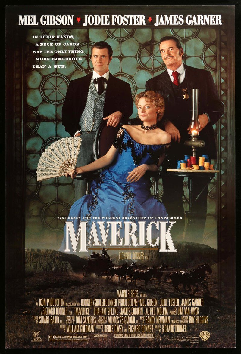 An Original Unfolded One Sheet Movie Poster 27 X 40 From 1994 For Maverick Not A Reproduction Free Us Shipping Flat Rate Int L