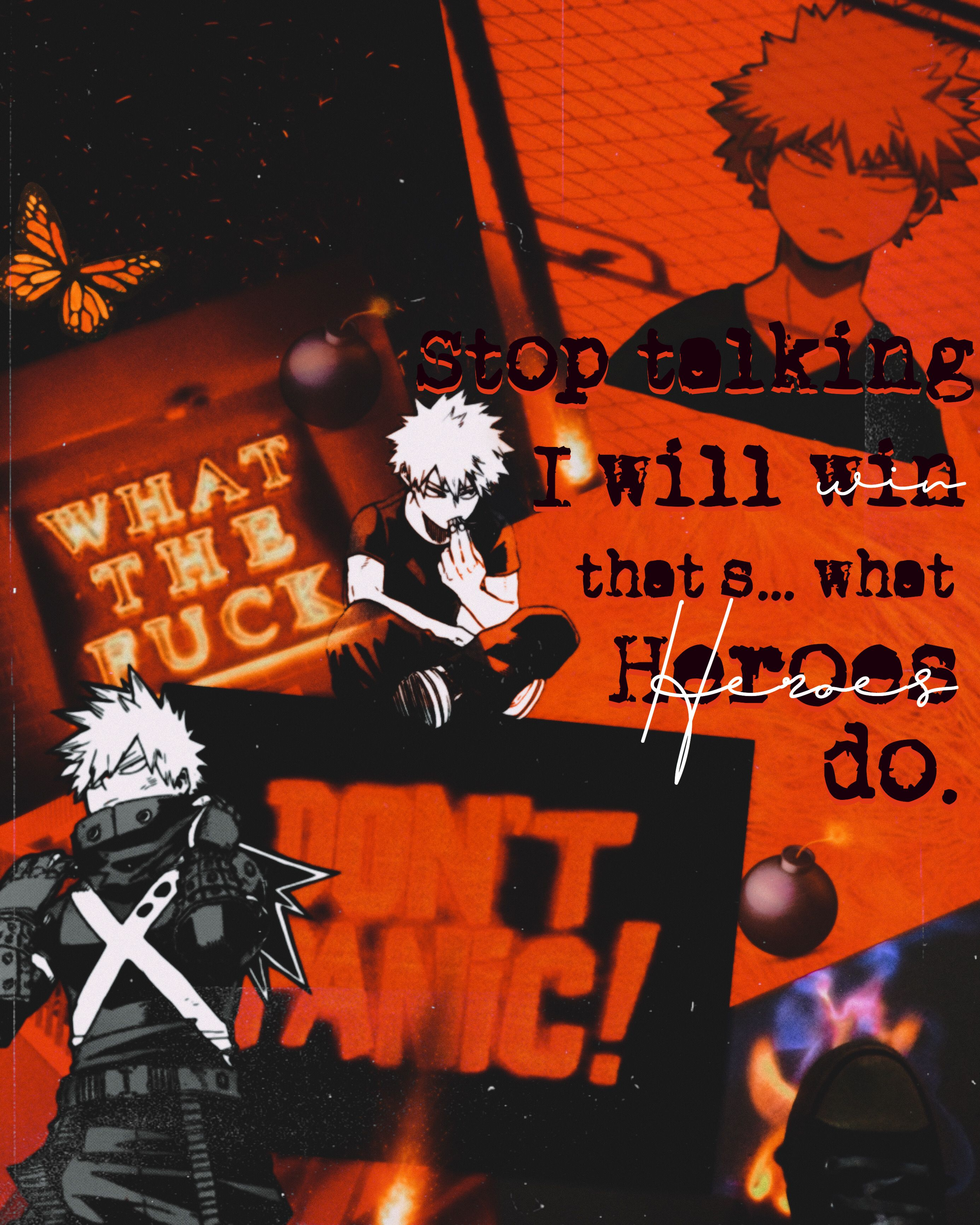 Katsuki Bakugo Orange Aesthetic Anime Wallpaper Something To Do
