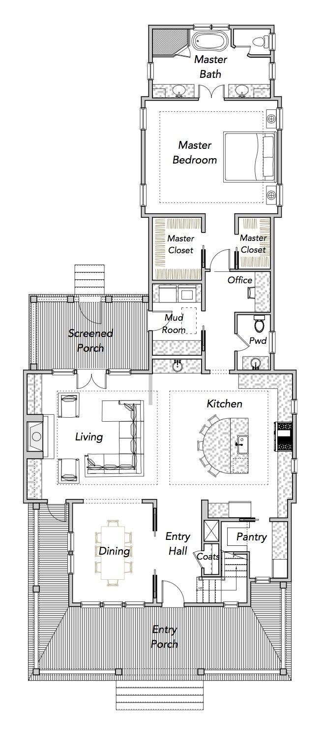 Narrow House Plans Sparrow Collection Flatfish Island Designs – Coastal Home Floor Plans
