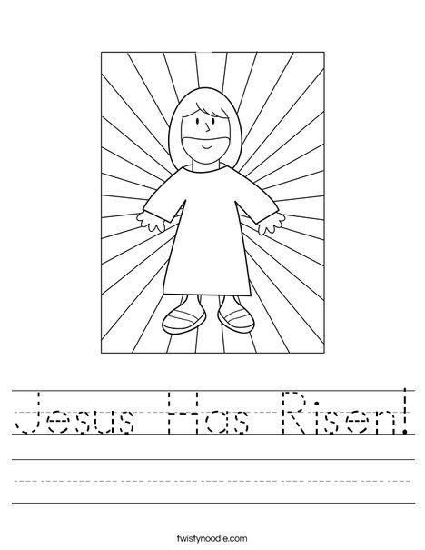 Jesus Has Risen Worksheet Jesus Coloring Pages Sunday School Worksheets Catholic Preschool Religious easter worksheets for
