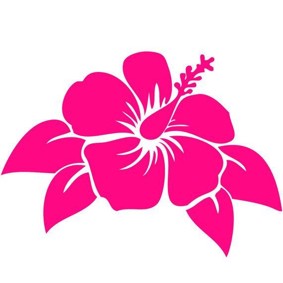 6 6 World Design Sticker Hibiscus Flower on Flip Flop Car Decal PINK