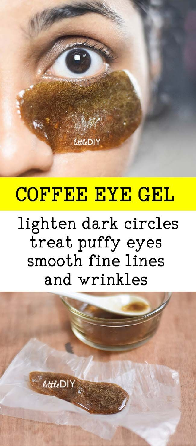COFFEE GEL EYE PADS FOR DARK CIRCLES #darkcircle
