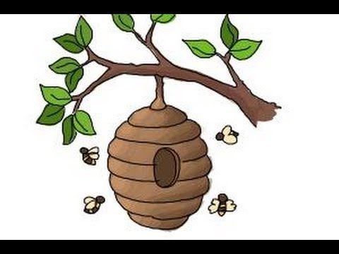 Beehive Drawing Google Search Beehive Drawing Tree Drawing Art Drawings Simple