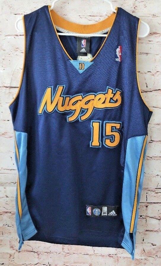 f6895806266 Men's Carmelo Anthony 15 Denver Nuggets Basketball NBA Adidas Jersey Sz 50  L5 | eBay