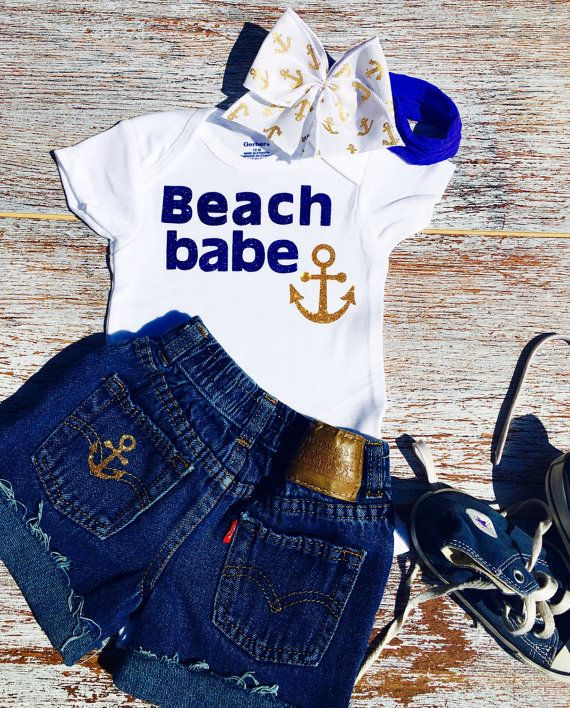Beach Babe Onesie Baby Girl Onesie Nautical Onesie