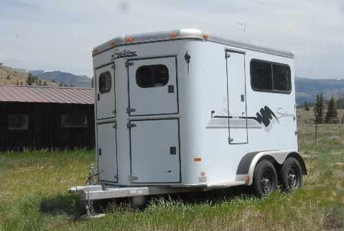 1998 Sundowner 2 Horse Bumper Pull Trailer 6 500 Trailers For Sale Horse Trailer Trailer Tires