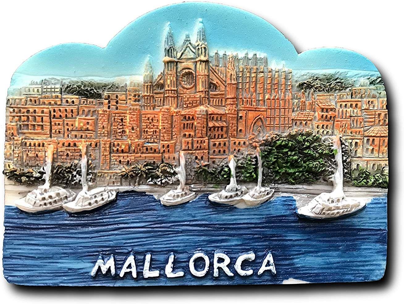 Barcelone Aimant de r/éfrig/érateur MUYU Magnet 3D Barcelone Espagne Lettres de Voyage Aimant de r/éfrig/érateur Autocollant Souvenir Home /& D/écoration de Cuisine