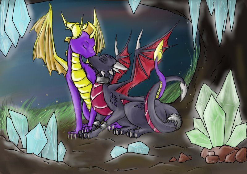 Spyro and Cynder Mating. Love You More Than... - colored ...