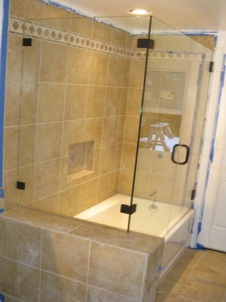Corner Shower (NEXT TO TUB) | Ricky & Denise | Pinterest | Tubs and ...