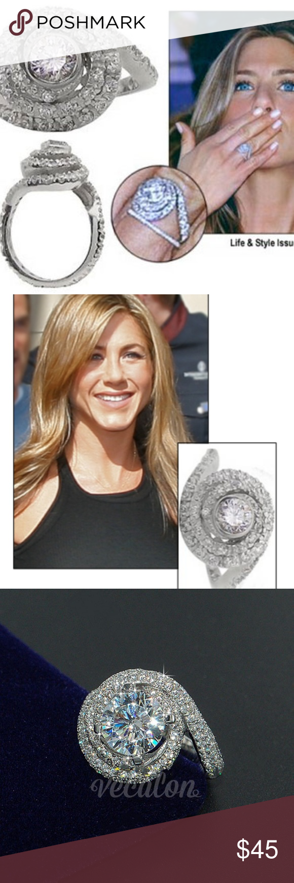 Jennifer Aniston Wedding Ring With Brad Pitt In 2021 Jennifer Aniston Wedding Ring Celebrity Wedding Rings Gorgeous Wedding Rings