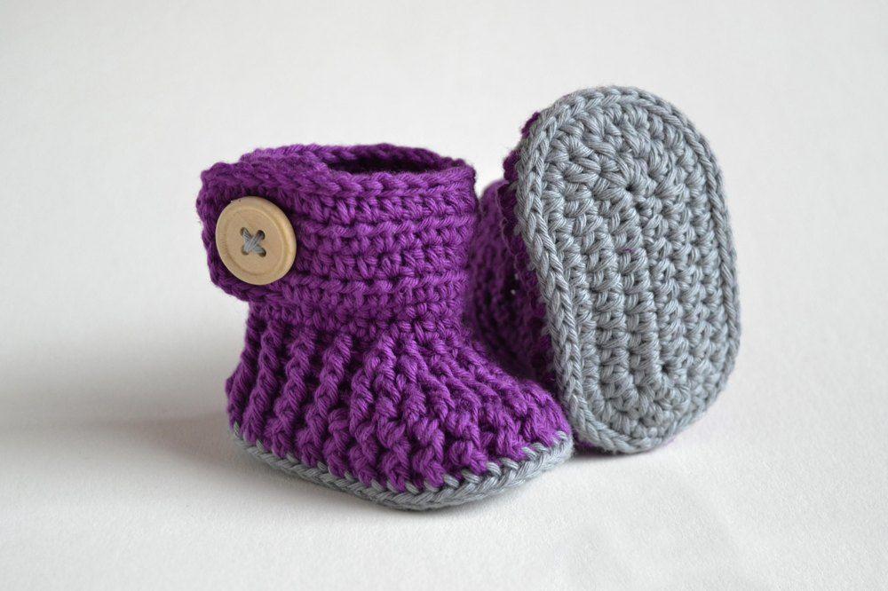 Violet Drops Crochet Baby Booties