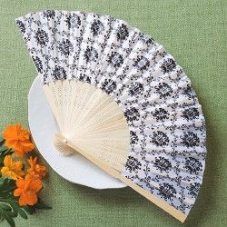 #BUY Elegant Silk Fan with Damask Design (x6) for your #wedding here: http://shop.weddingandweddingflowers.co.uk/index.php?id_product=171&controller=product