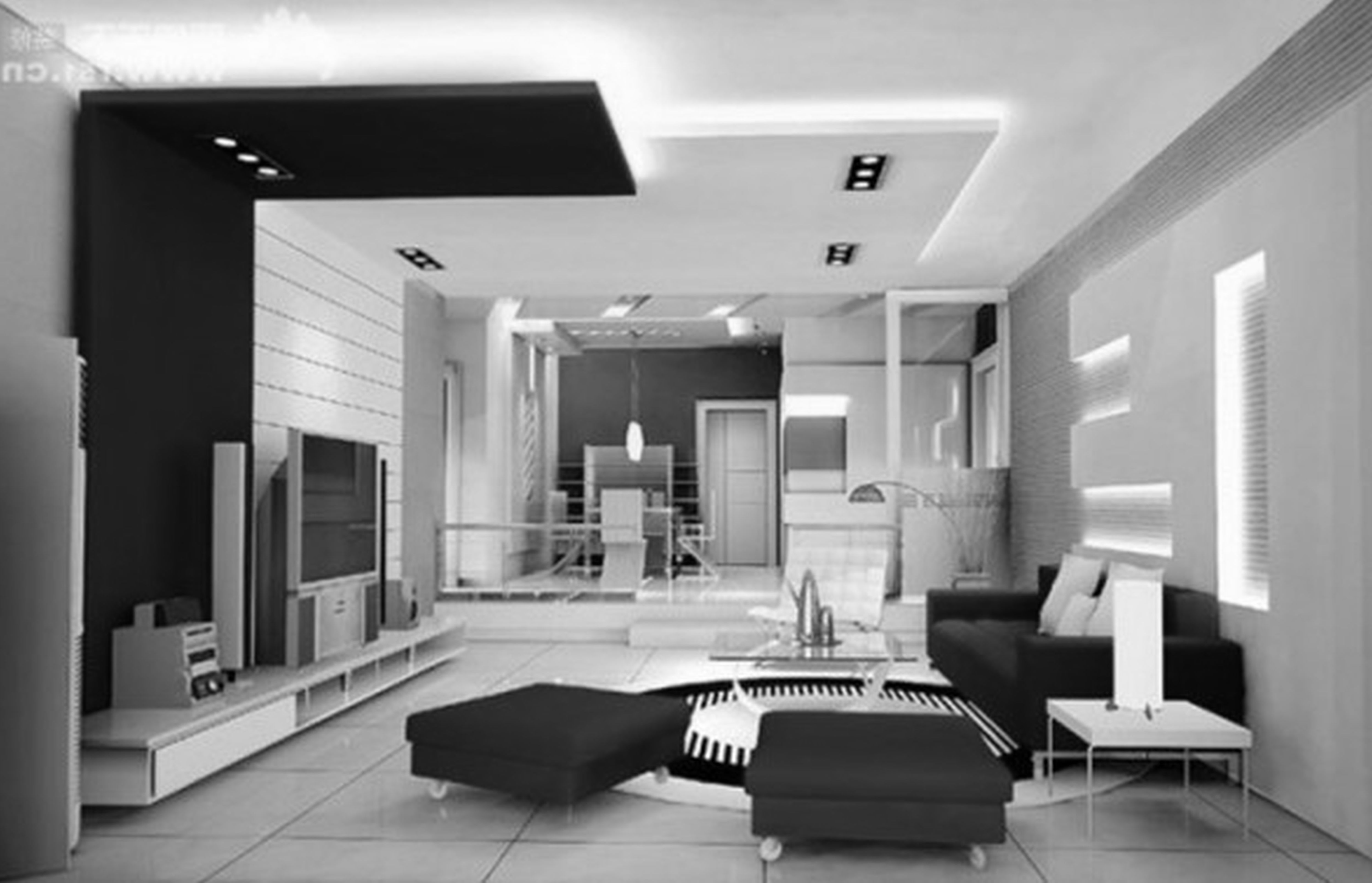 Contemporary Living Room Designs Glamorous Interior Design Black And White Living Room Photo  Interior Room Decorating Inspiration