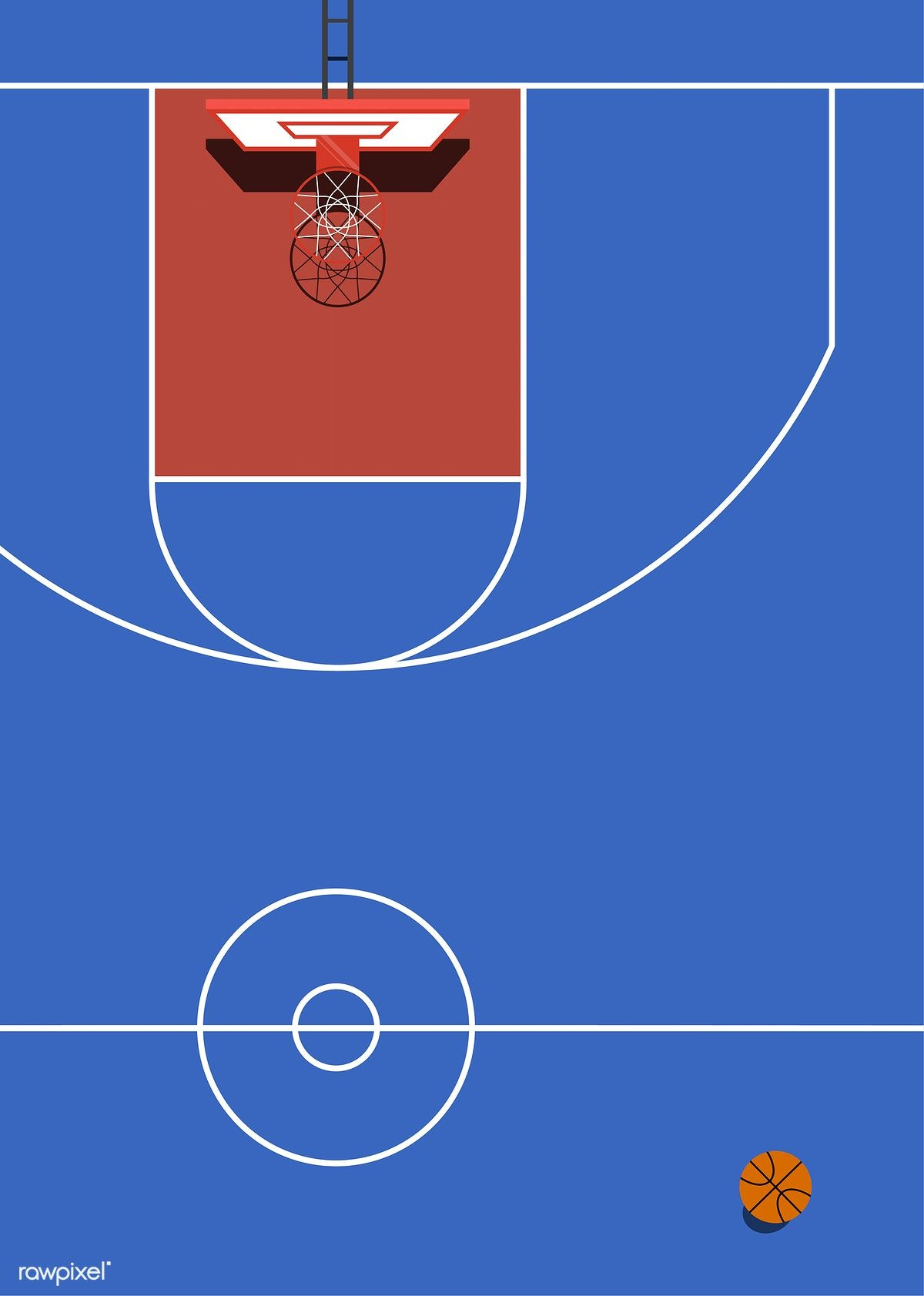 Aerial View Of A Basketball Court Free Image By Rawpixel Com Adobe Illustrator Graphic Design Mood Board Design Sport Illustration