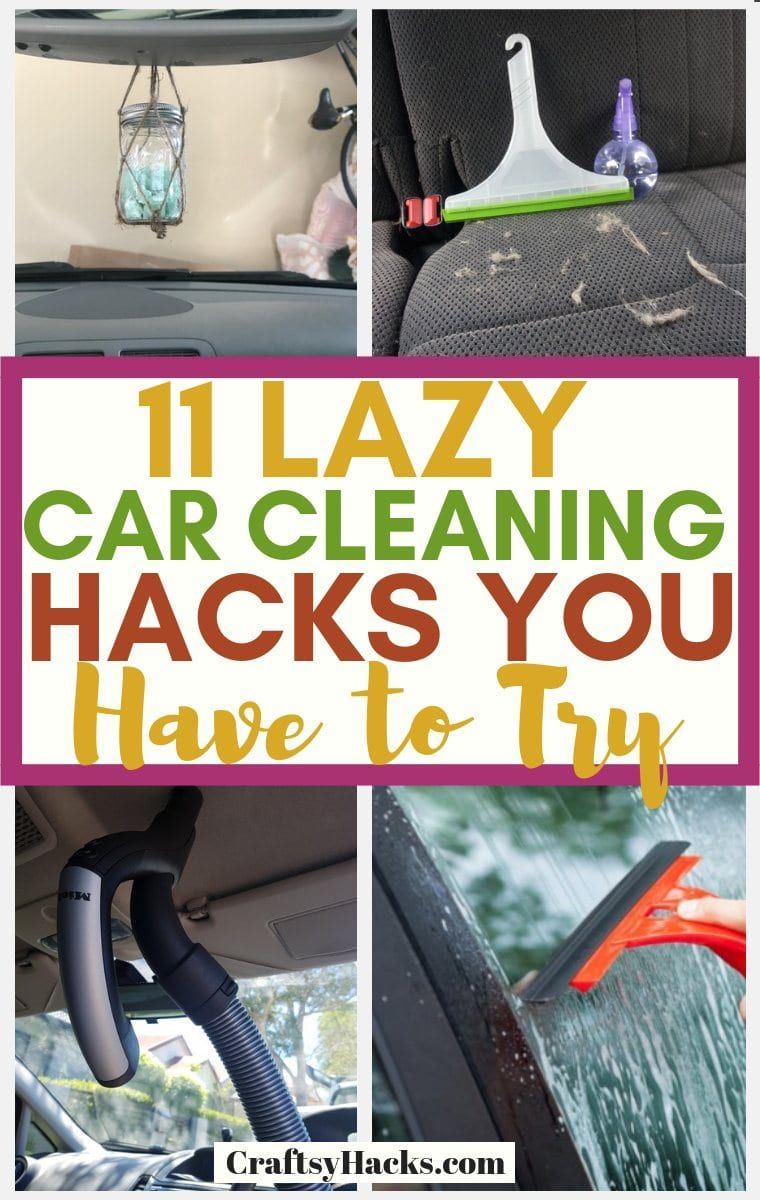 Sharing 11 super easy car cleaning tips that you simply have to try. These clean car hacks will help you to clean car lights, the seats and much more! #cleaning #cleancar #cleaningtips #cleaningcars